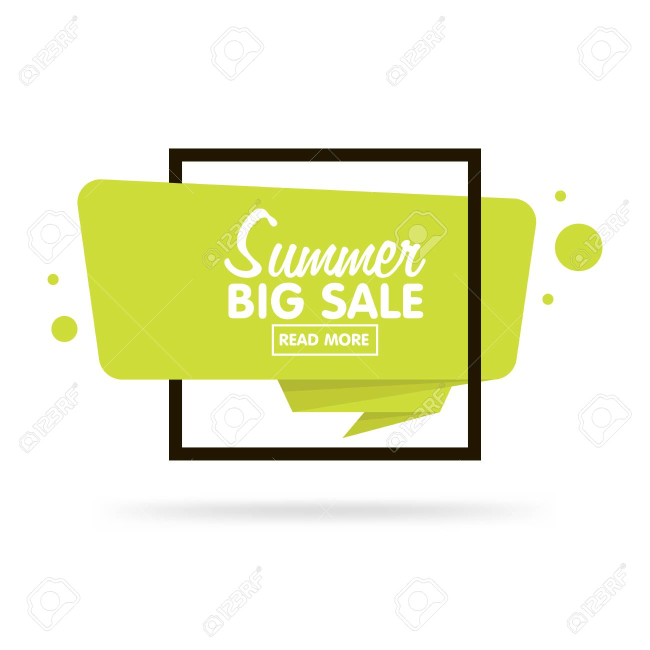Summer sale concept. Origami style sticker and banner tamplate. Isolated on white background. Blank for your text, Web site and projects. - 56343060