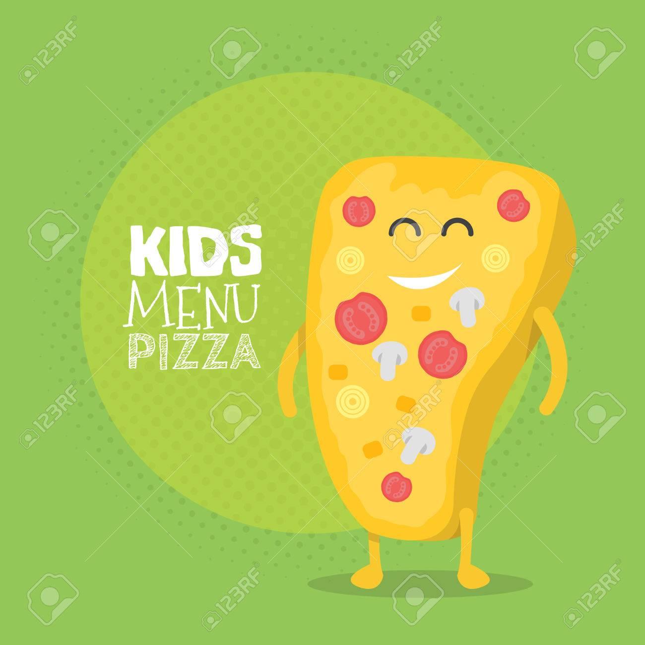 Restaurante Niños Carácter Menú De Cartón. Plantilla Para Sus ...