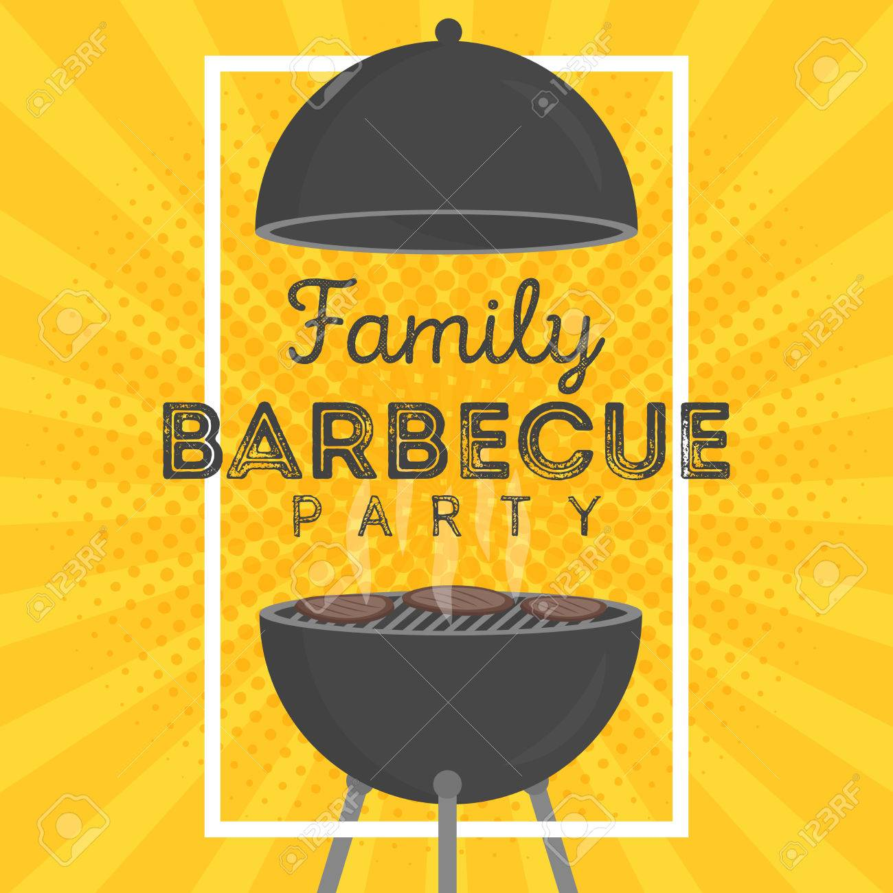 Lovely vector barbecue party invitation design template trendy lovely vector barbecue party invitation design template trendy bbq cookout poster design with classic charcoal pronofoot35fo Choice Image