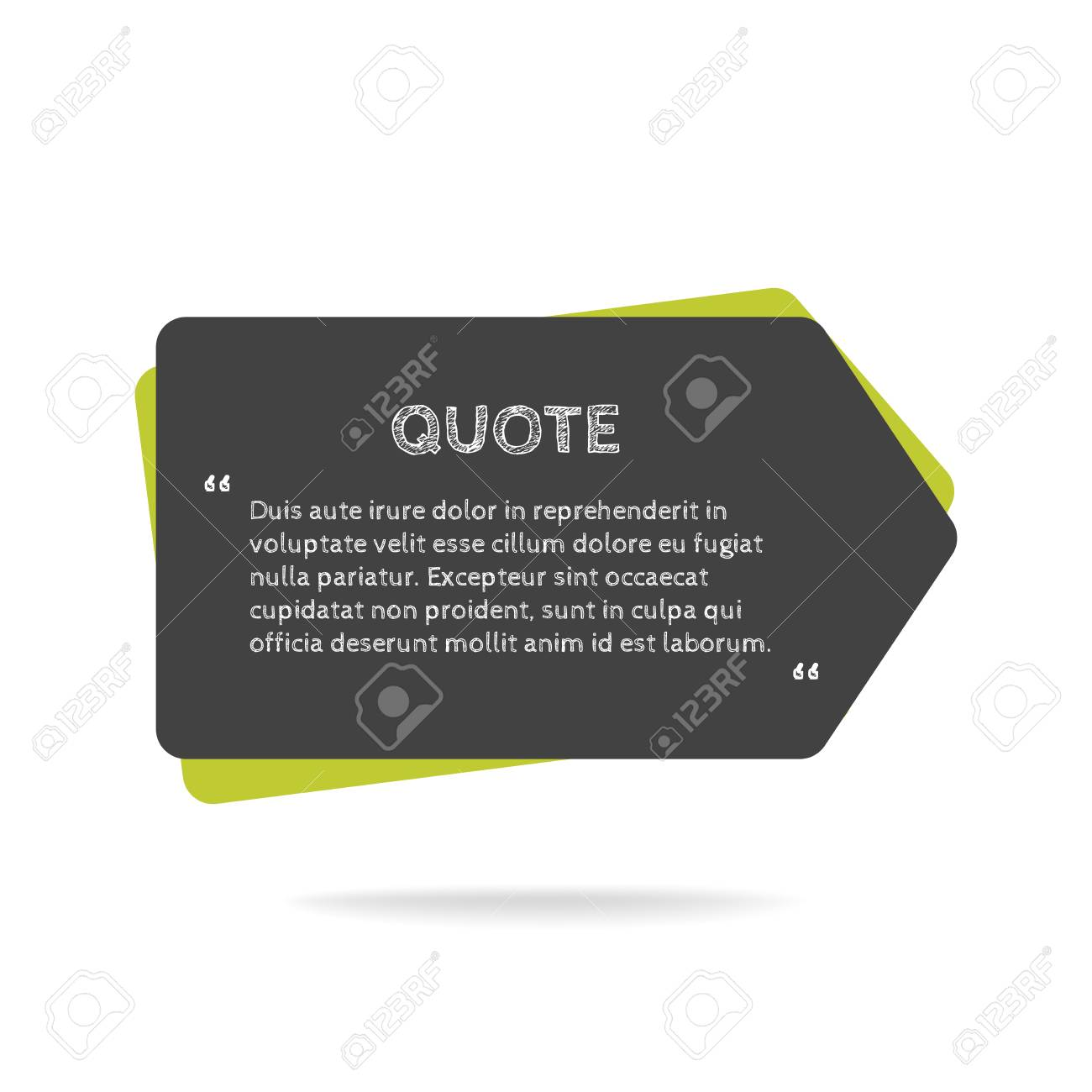 Quotation mark speech bubble empty quote blank citation template quotation mark speech bubble empty quote blank citation template rectangle design element for business reheart Images