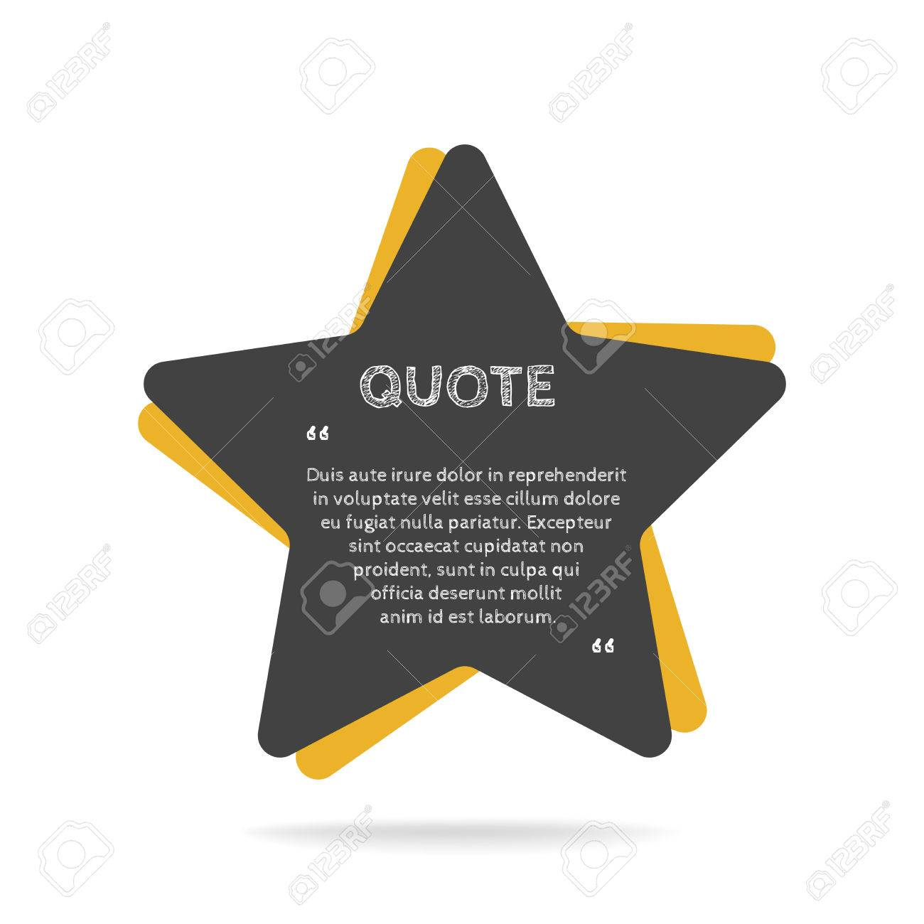 Quotation Mark Speech Bubble. Empty Quote Blank Citation Template ...
