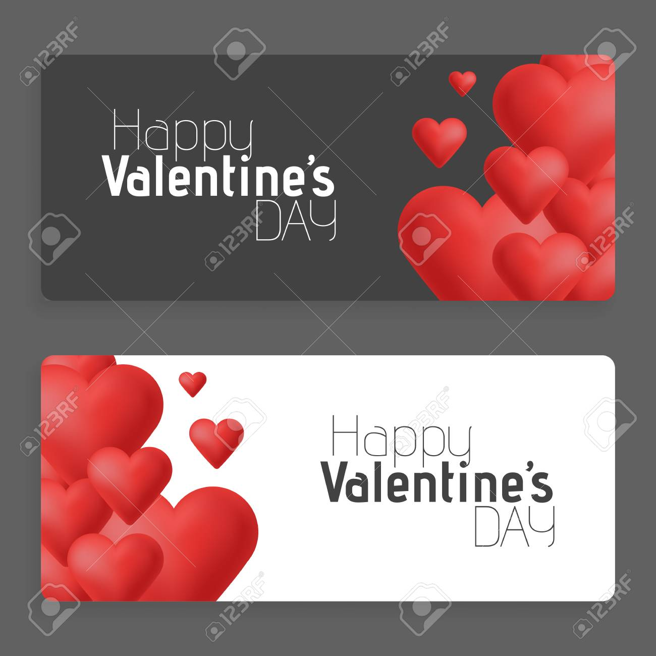 Hearts on abstract love background  Be my valentine  Love romantic