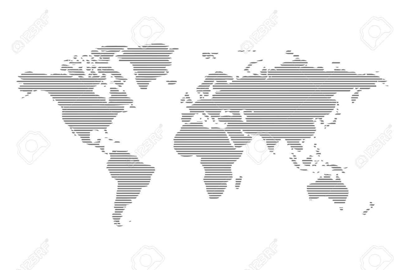 carte du monde graphique Résumé Ordinateur Carte Du Monde Graphique Des Lignes Clip Art