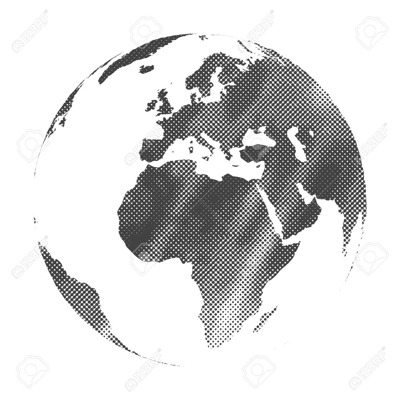 Grunge halftone texture gray world map globe vector illustration grunge halftone texture gray world map globe vector illustration stock vector 78493728 gumiabroncs Gallery