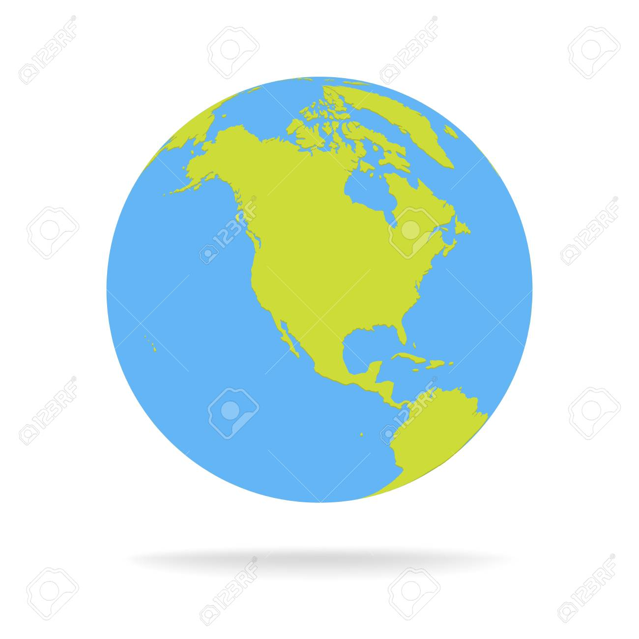 Green and blue cartoon world map globe vector illustration royalty green and blue cartoon world map globe vector illustration stock vector 79907196 gumiabroncs Images