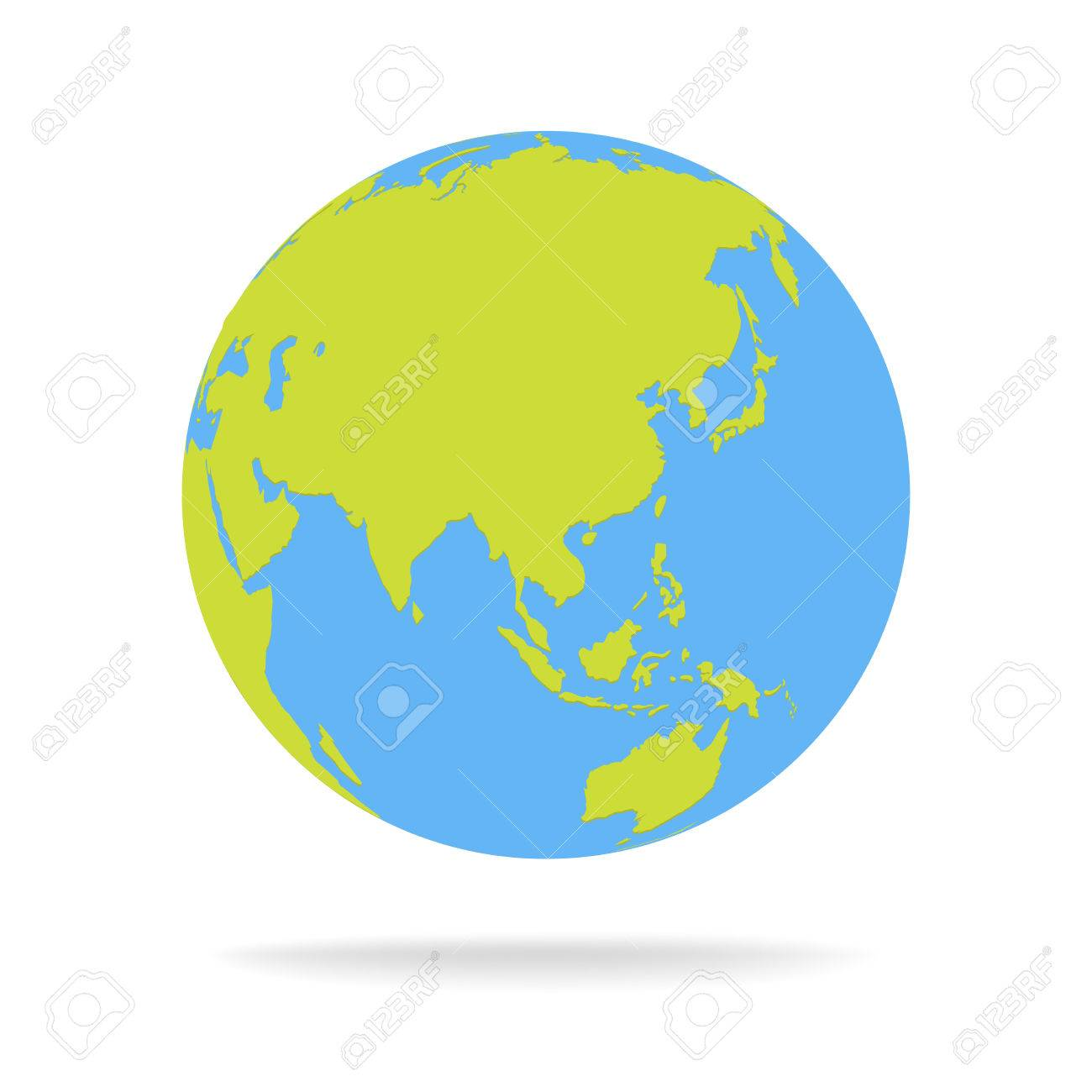 Green and blue cartoon world map globe vector illustration royalty green and blue cartoon world map globe vector illustration stock vector 79898847 gumiabroncs Choice Image