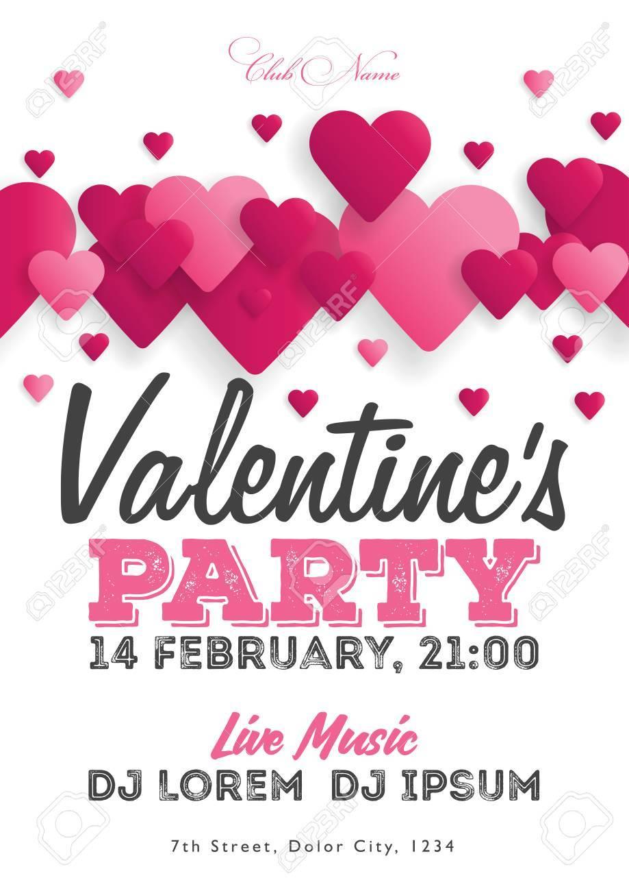 Valentinstag Einladung Flyer Die Vorlage Fur Den Club Musikalische
