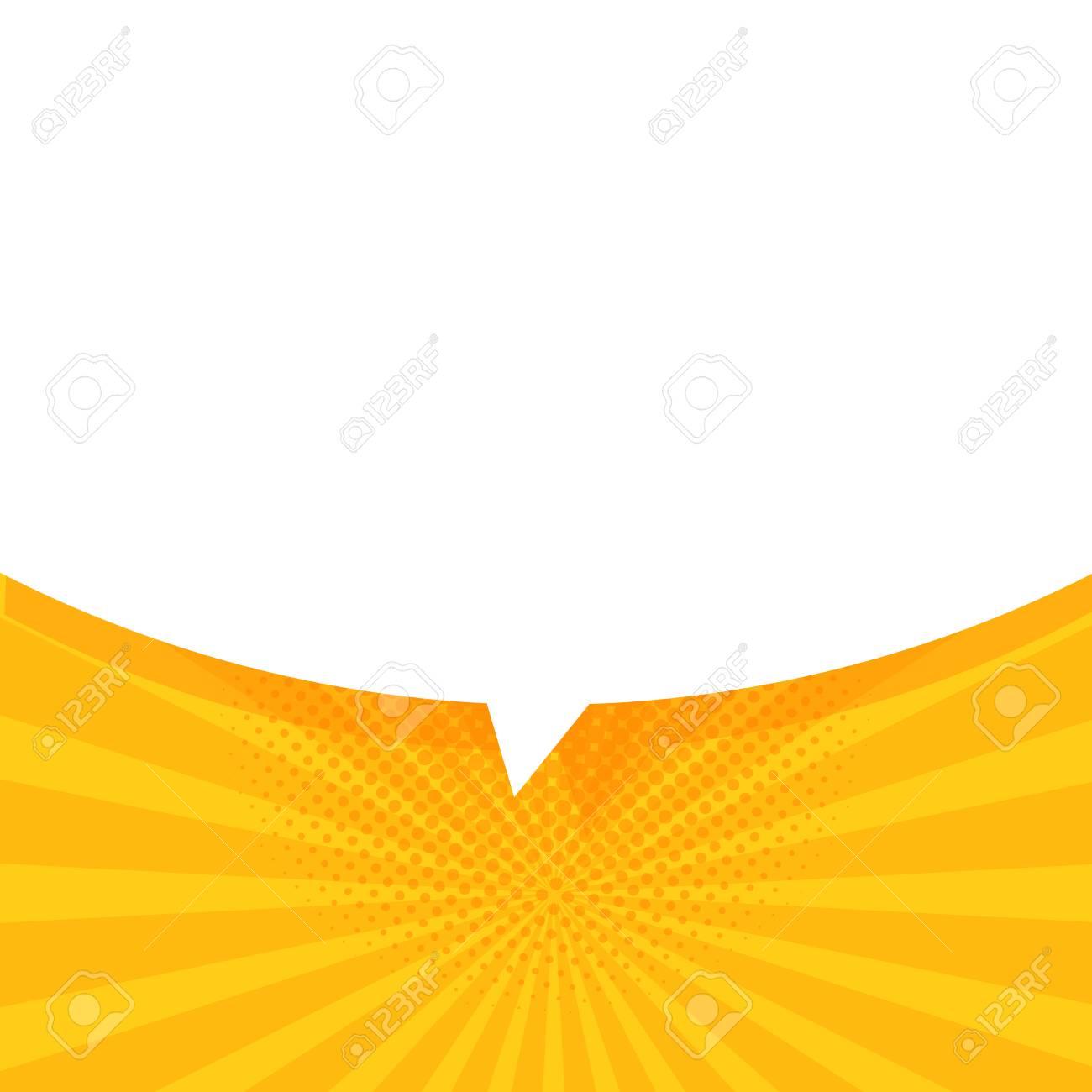 Speech Bubble in Pop Art Style. Vector banner template. - 95587365