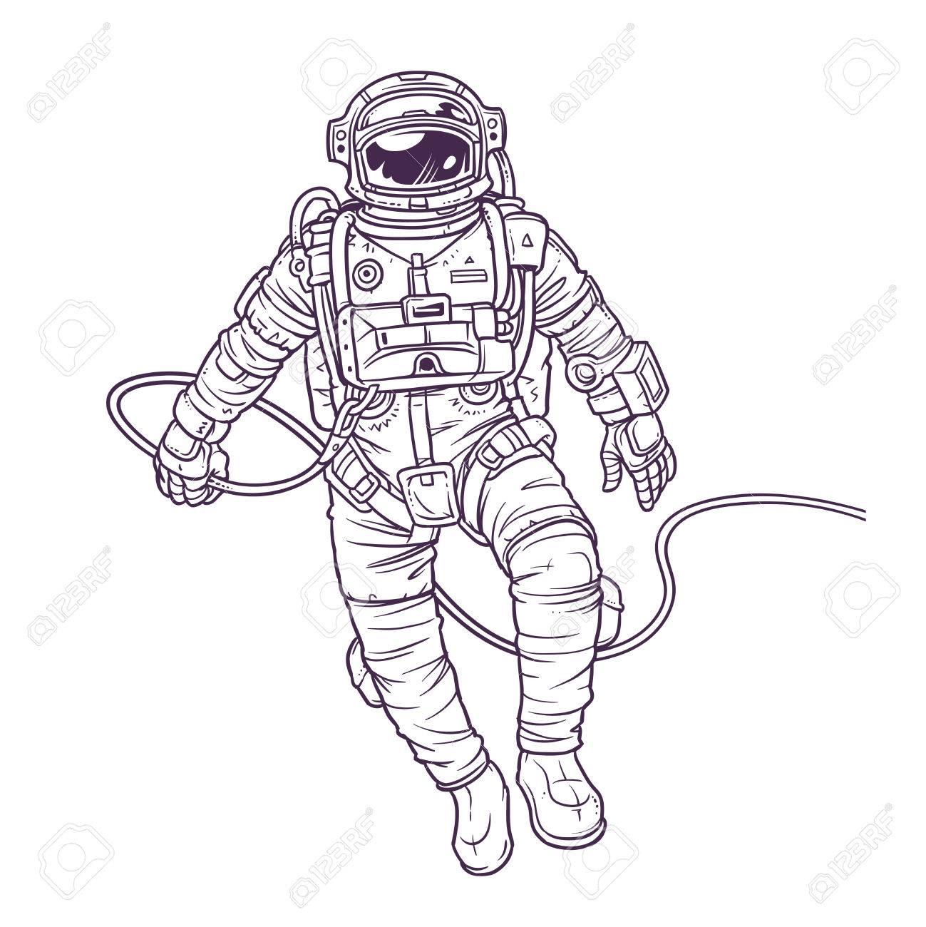 Atemberaubend Astronaut Ausgeschnitten Vorlage Zeitgenössisch ...