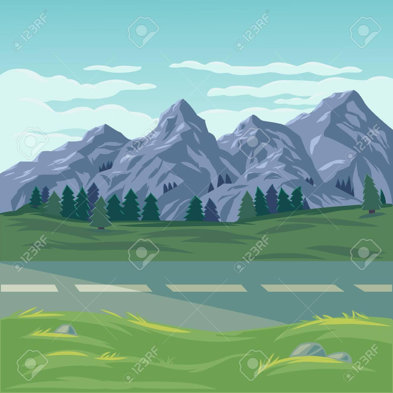 山の風景のイラスト の写真素材画像素材 Image 70784771