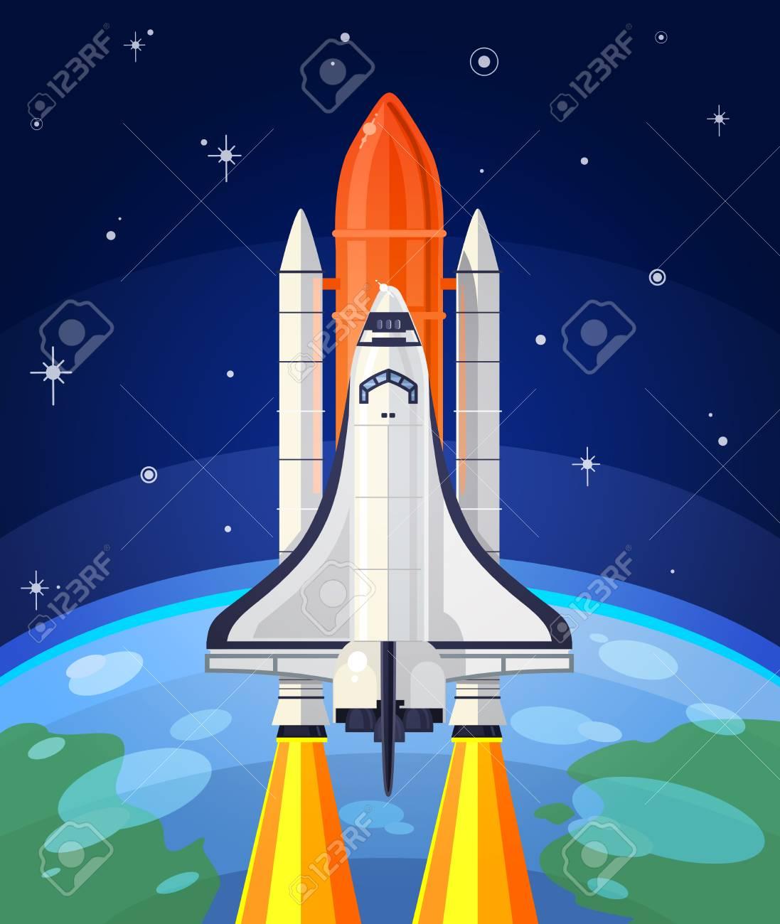 宇宙ロケットの打ち上げのイラス...