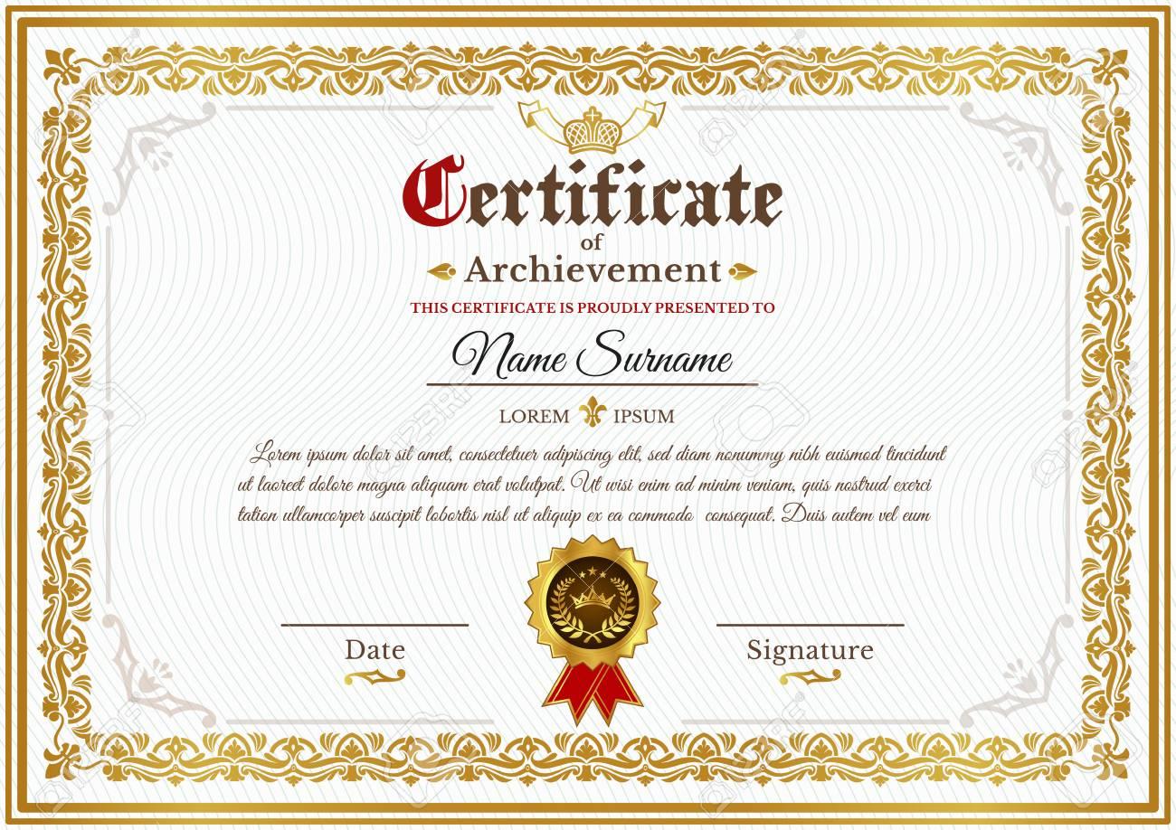 Vector Certificate Template On Awarding Design Of Certificate