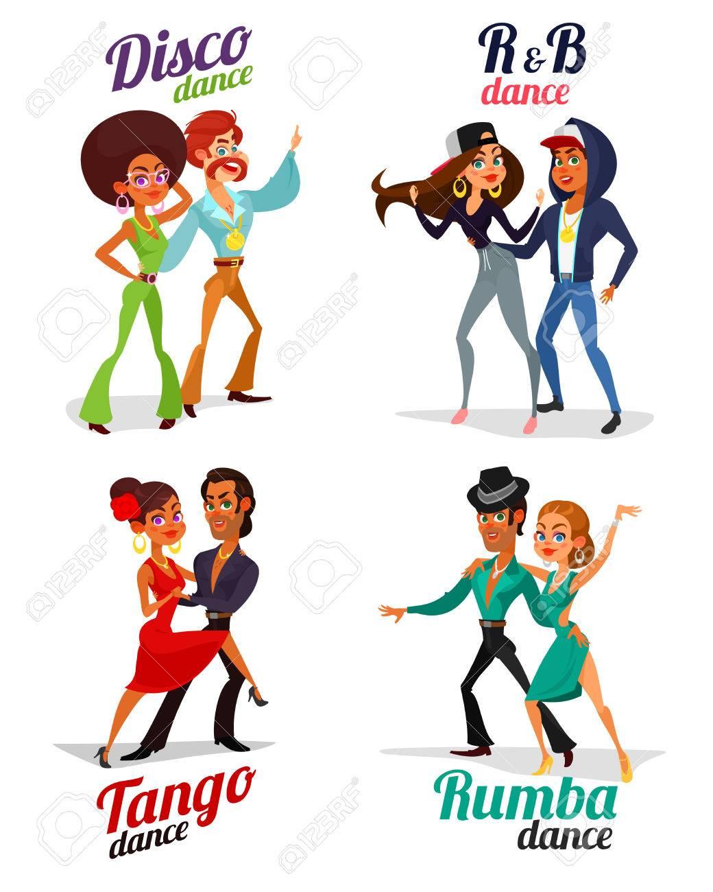 Defina Ilustracoes De Desenhos Animados De Casais Que Dancam Tango