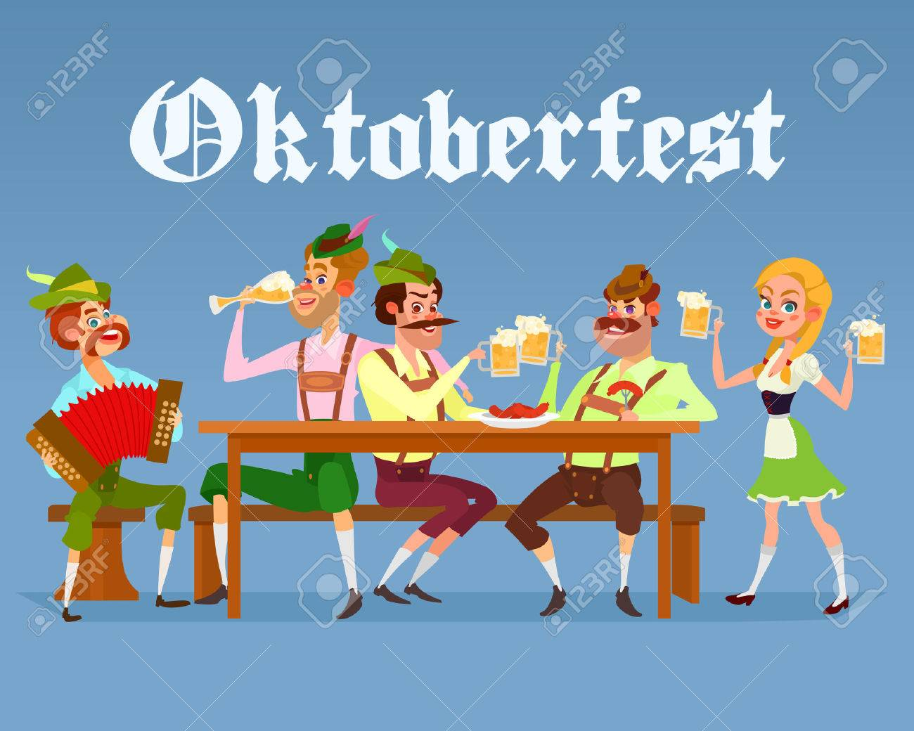 Traditional european roulette table vector illustration stock vector - European Table Cartoon Illustration Of Funny Men Drinking Beer During A Beer Festival Greeting