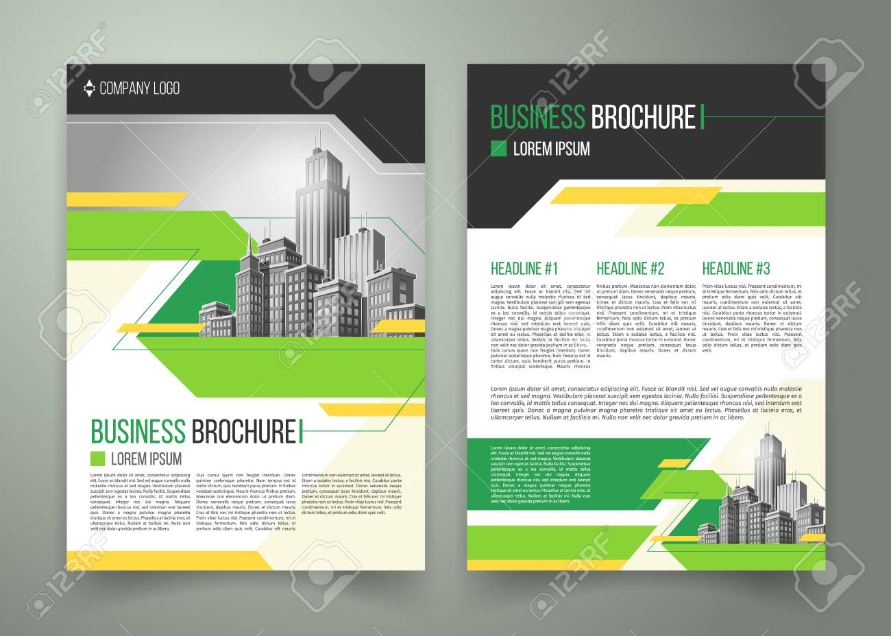 vector flyer cover design of the companys annual business report