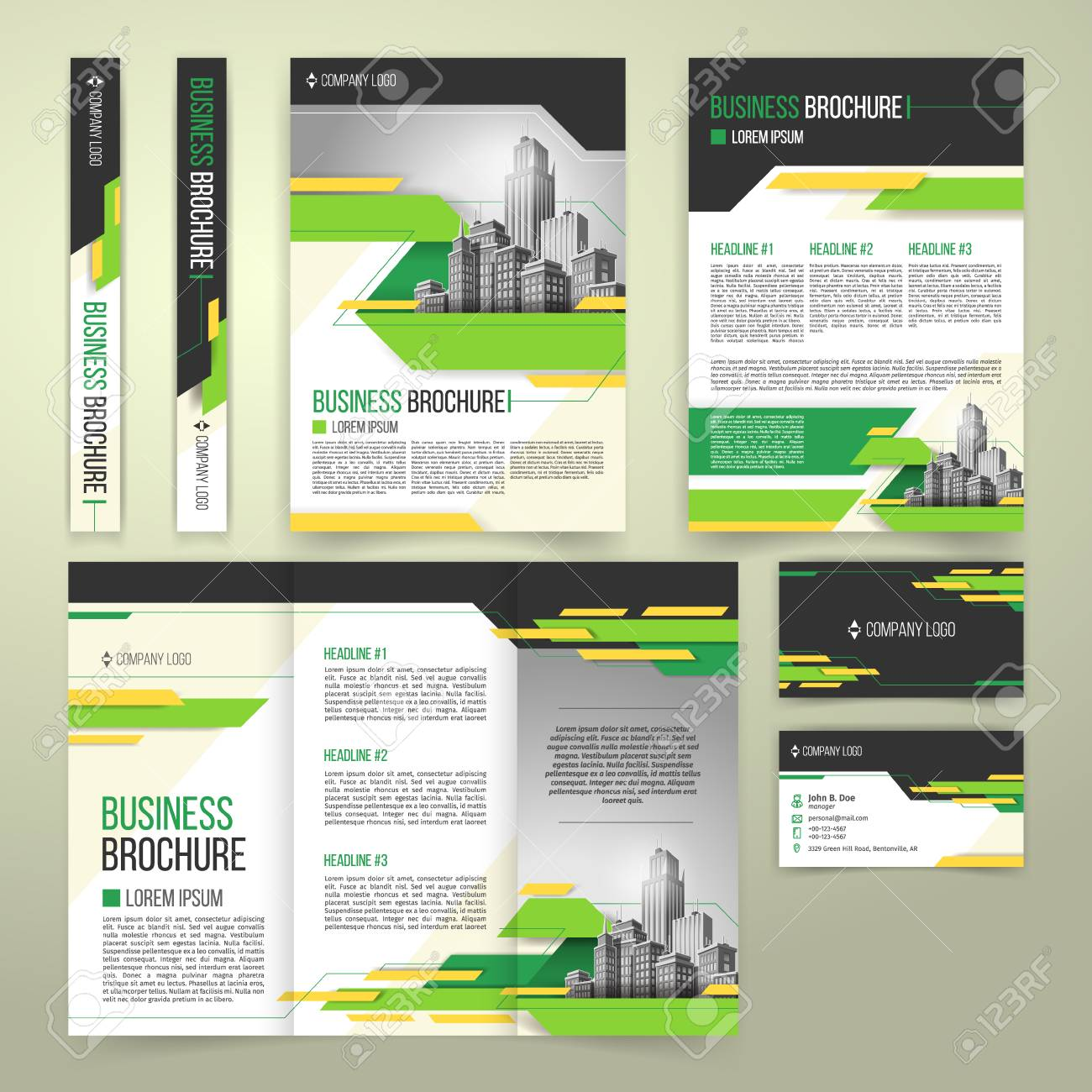 Vector flyer cover design of the companys annual business report vector vector flyer cover design of the companys annual business report business card presentation template with green elements and black white friedricerecipe Images