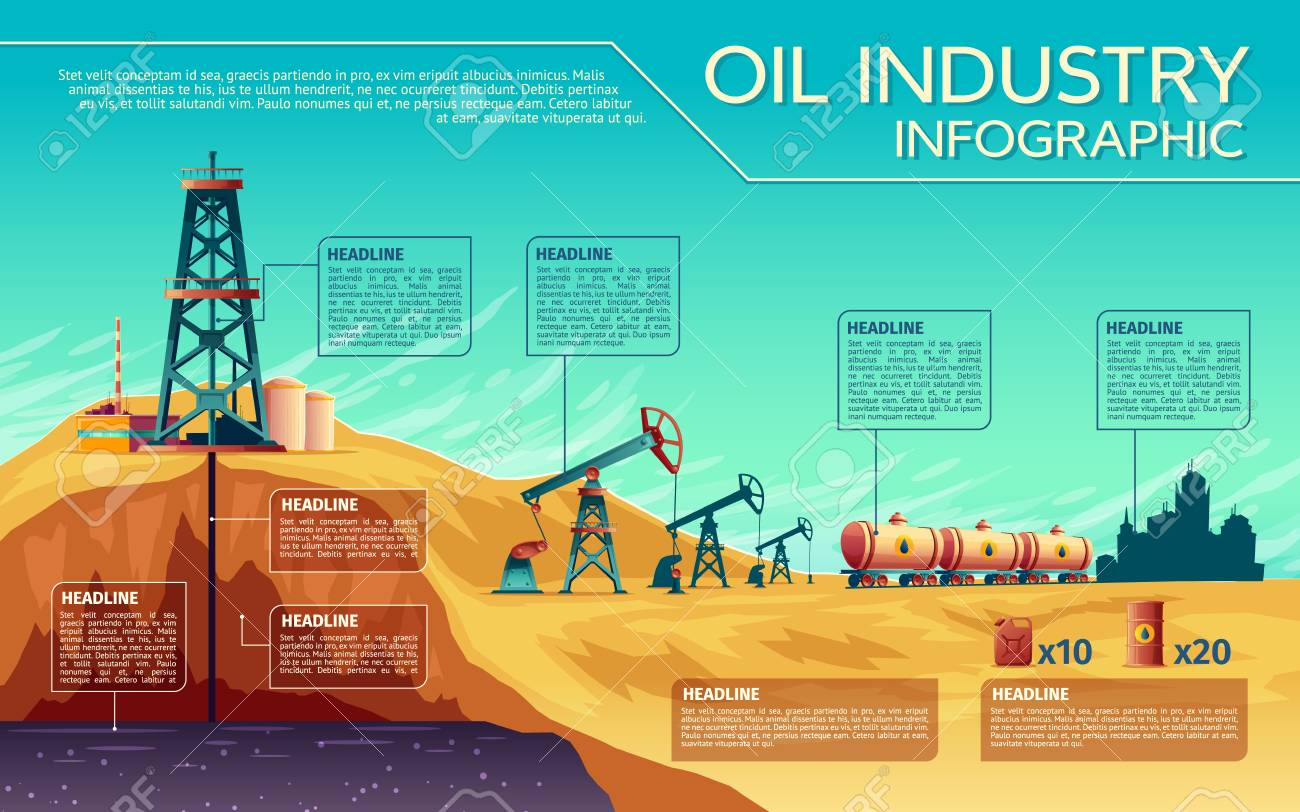 Oil industry presentation template. - 92736299