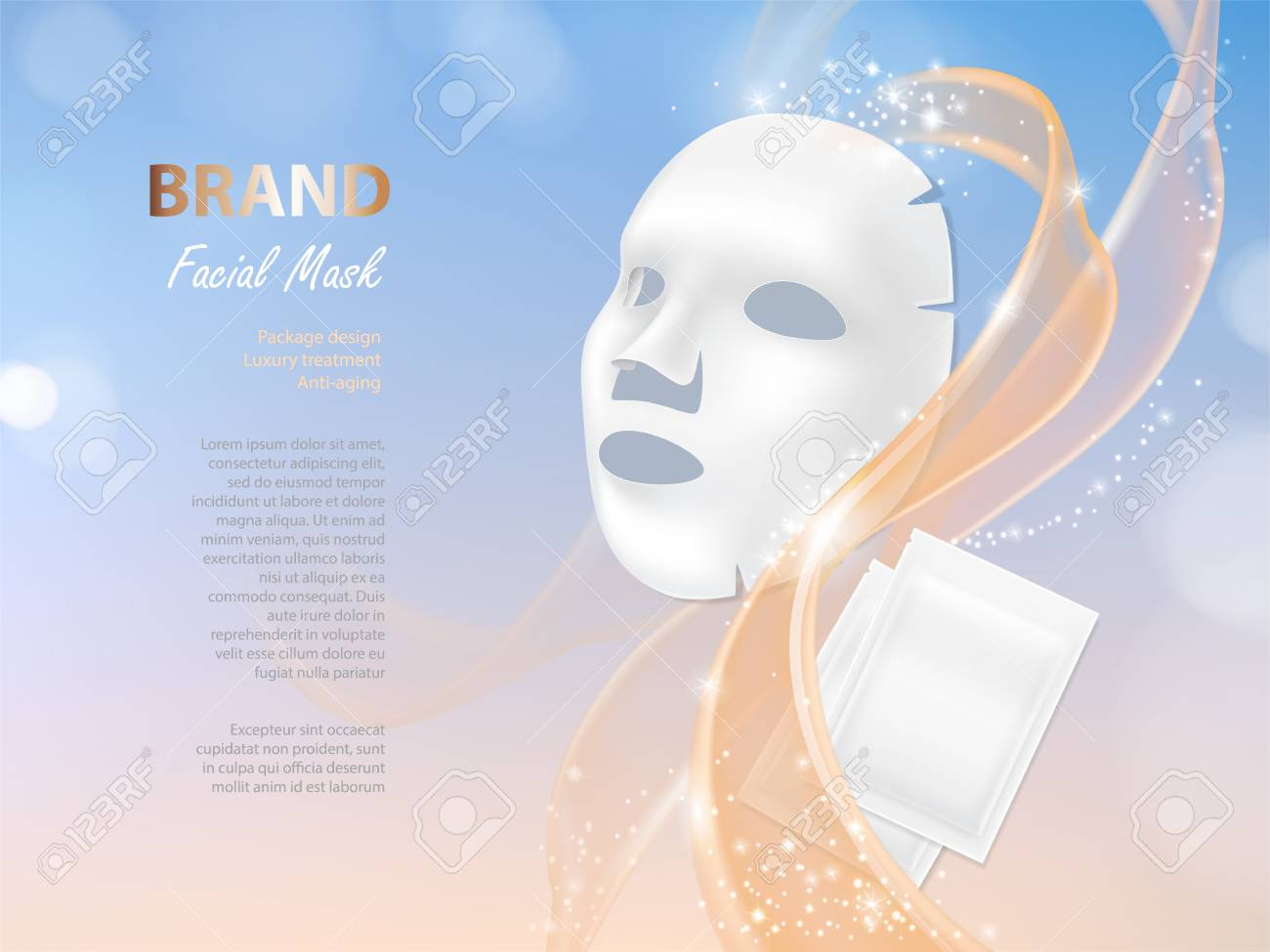 Vector Cosmetic Banner With 3d Realistic Vector Facial Mask And