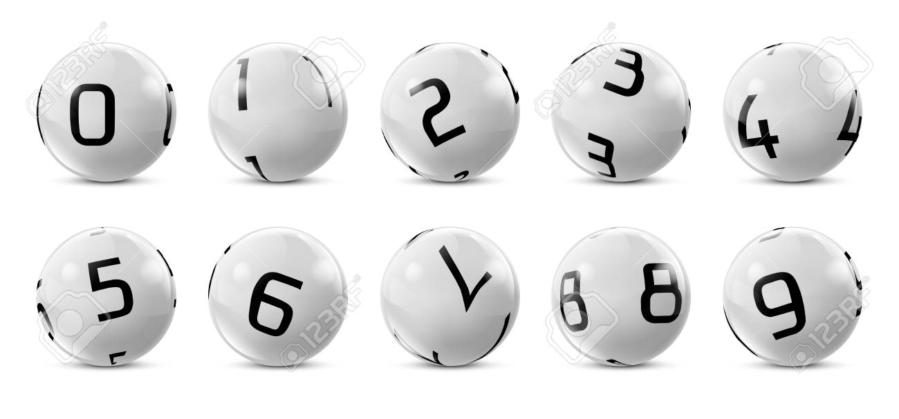 Vector Lotto White Balls With Numbers. Lottery Bingo Gambling.. Royalty  Free Cliparts, Vectors, And Stock Illustration. Image 101582272.