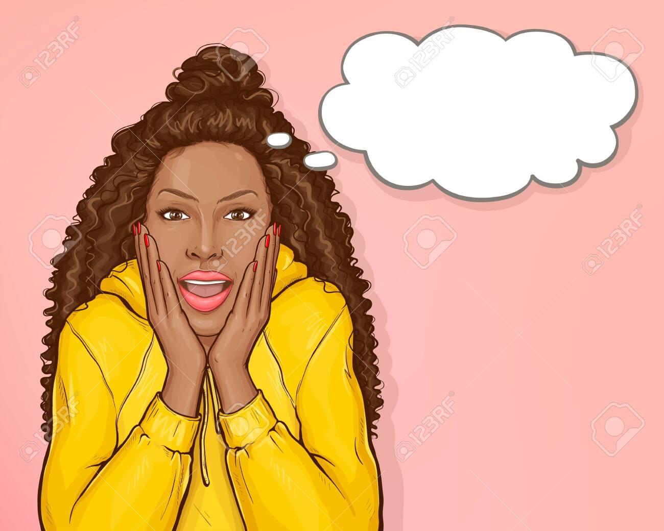 Afro black girl vector