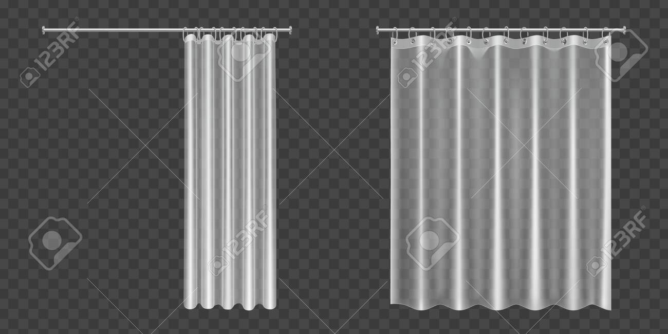 Picture of: White Clear Shower Curtains Isolated On Transparent Background Royalty Free Cliparts Vectors And Stock Illustration Image 138590041