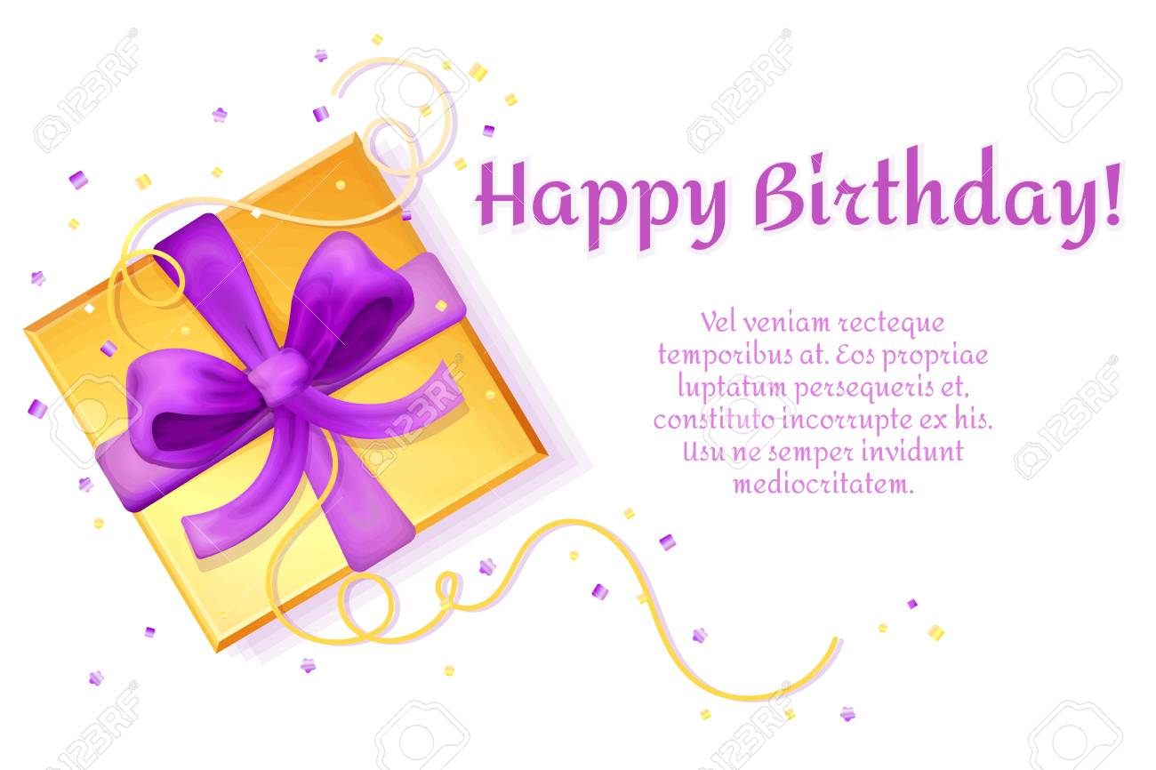 happy birthday poster banner invitation card template