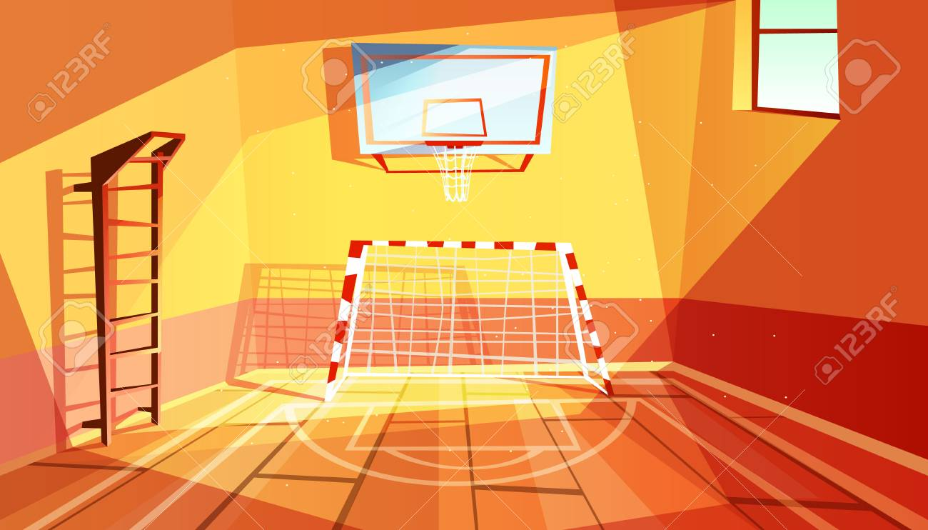 Gymnasium Vector Illustration Of College Or School Gym And Sport Royalty Free Cliparts Vectors And Stock Illustration Image 105210290