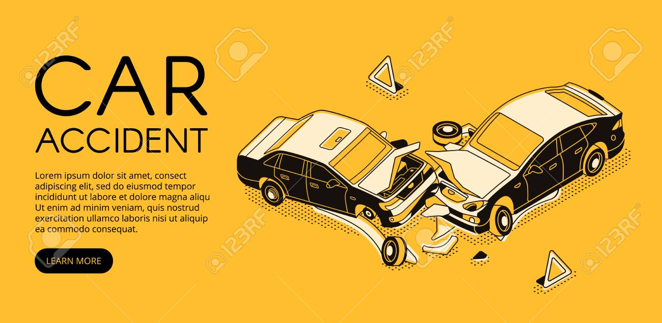 Car Repair Insurance >> Car Accident Vector Illustration Of Vehicle Crash For Driver
