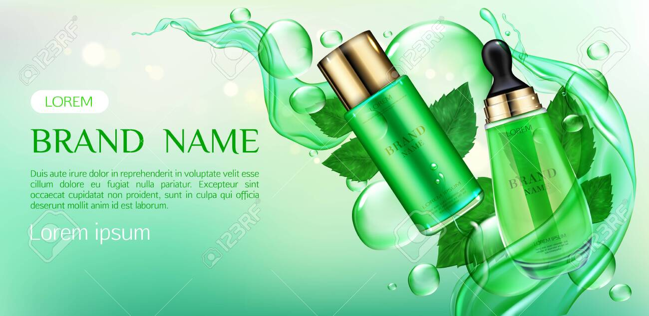 Cosmetics Tubes Mock Up Ad Banner Organic Beauty Product Skin Royalty Free Cliparts Vectors And Stock Illustration Image 129679228