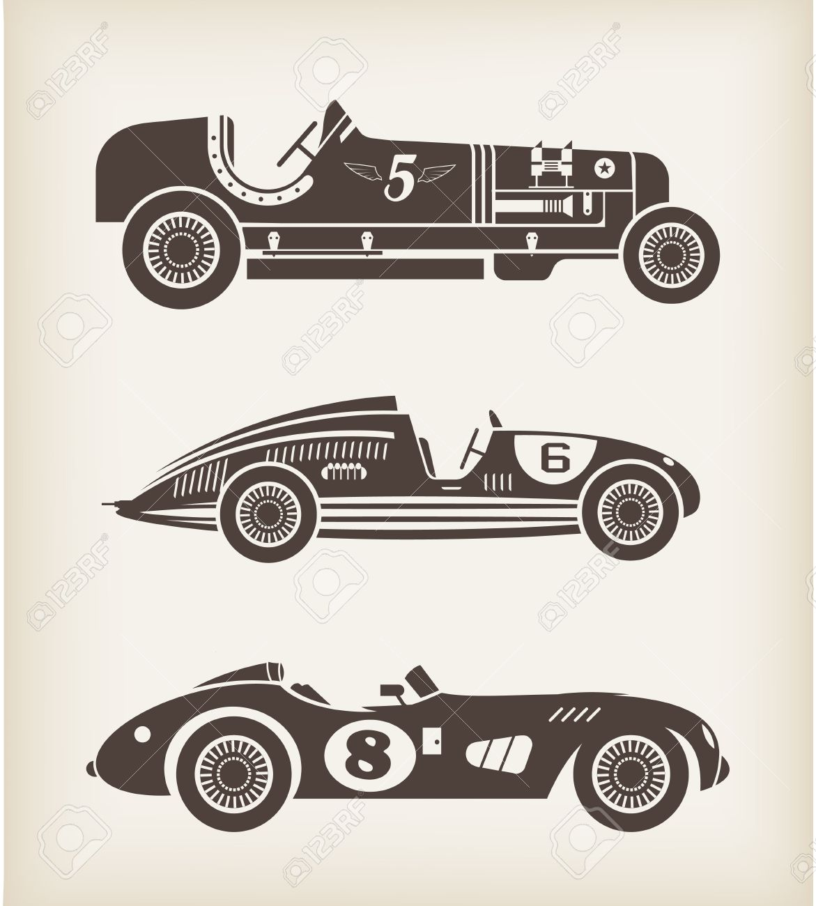 sport vintage racing cars Stock Vector - 21660836
