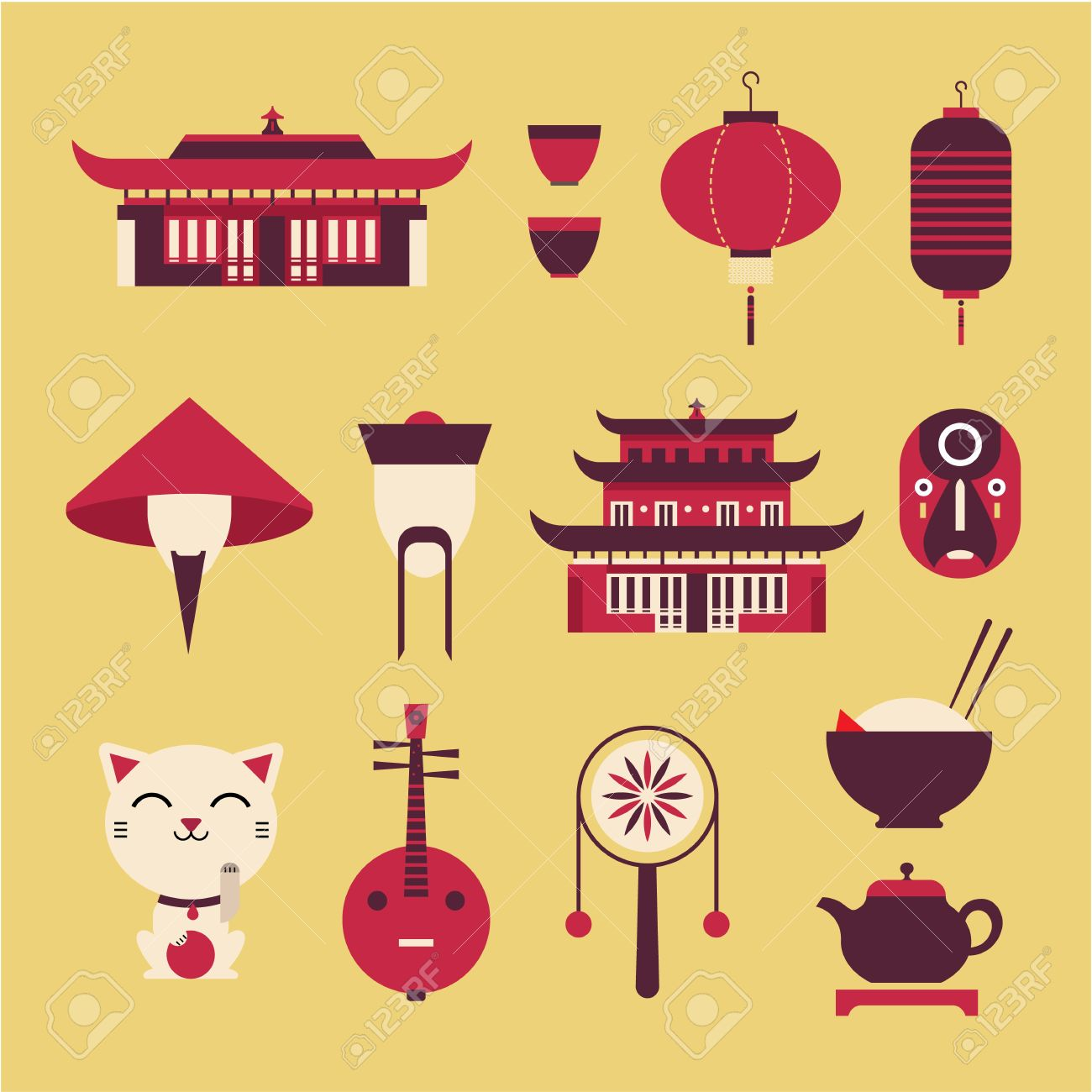 2,489 China House Stock Illustrations, Cliparts And Royalty Free ...