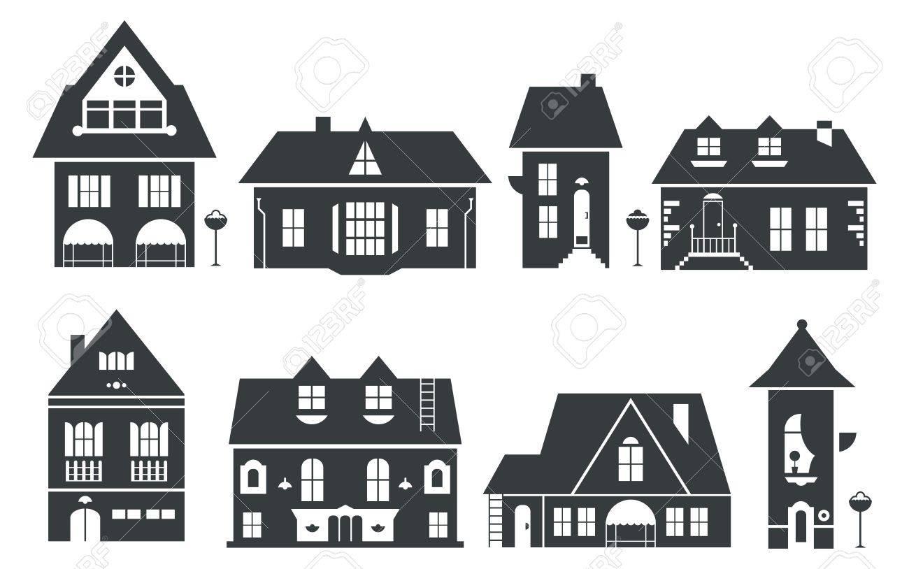 ヨーロッパとアメリカの家のイラストのイラスト素材ベクタ Image
