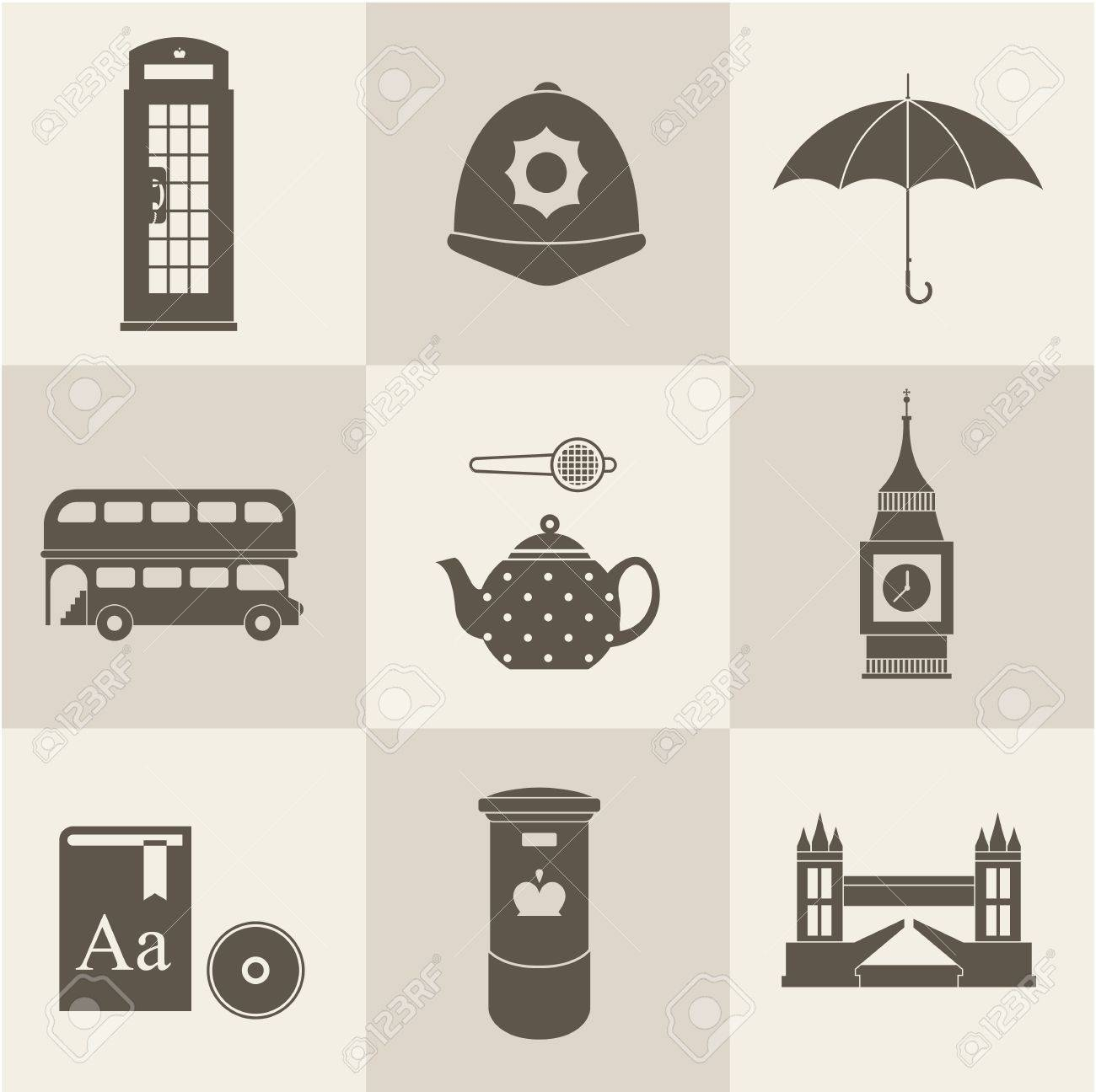 London vintage icons vectors Stock Vector - 24540758