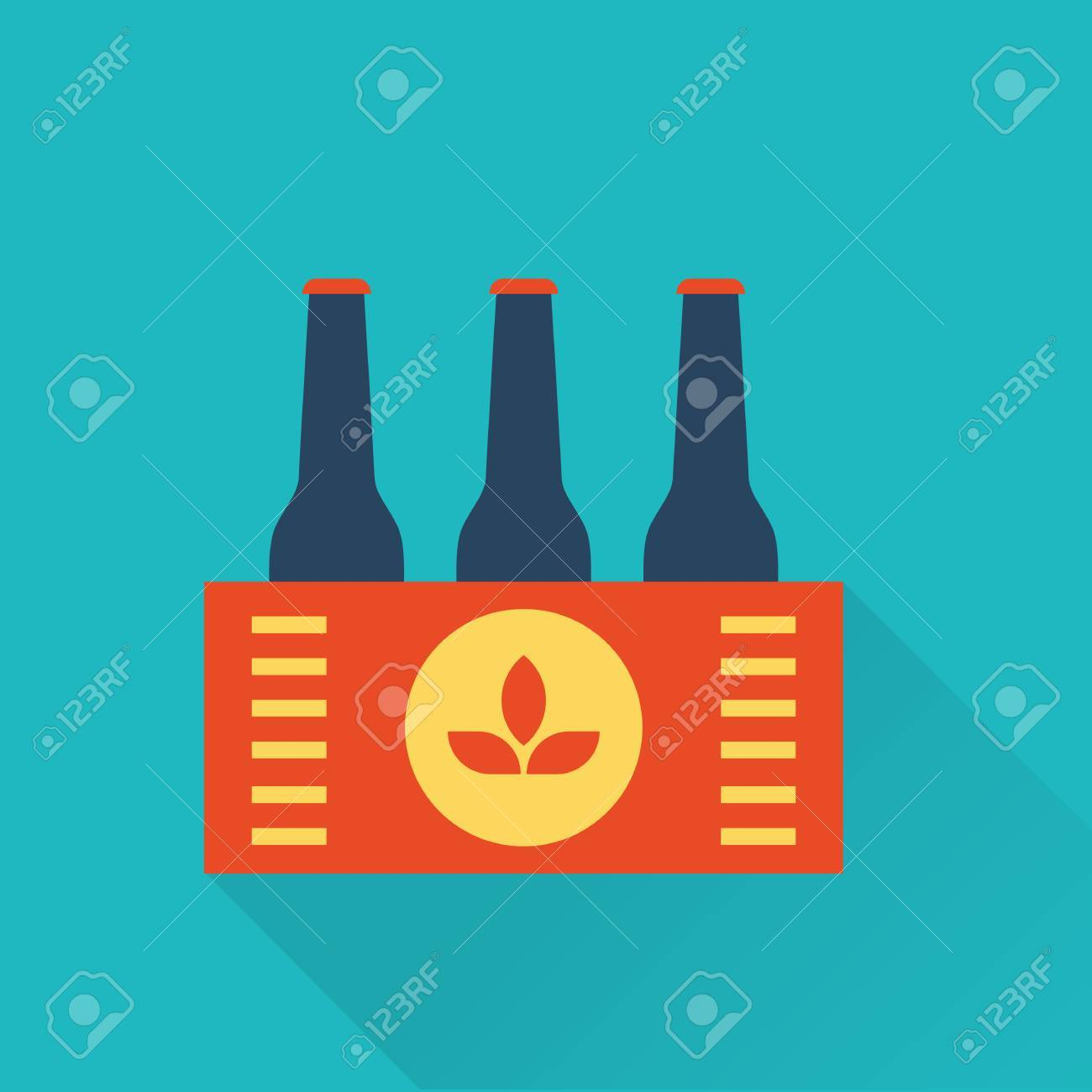 Six Pack Of Beer Bottles In A Box Royalty Free Cliparts Vectors And Stock Illustration Image 35997696