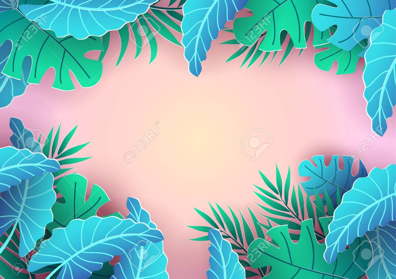 Summer Tropical Background Design Pink Background And Leaves Royalty Free Cliparts Vectors And Stock Illustration Image 123089548 Download 220,000+ royalty free tropical background vector images. summer tropical background design pink background and leaves