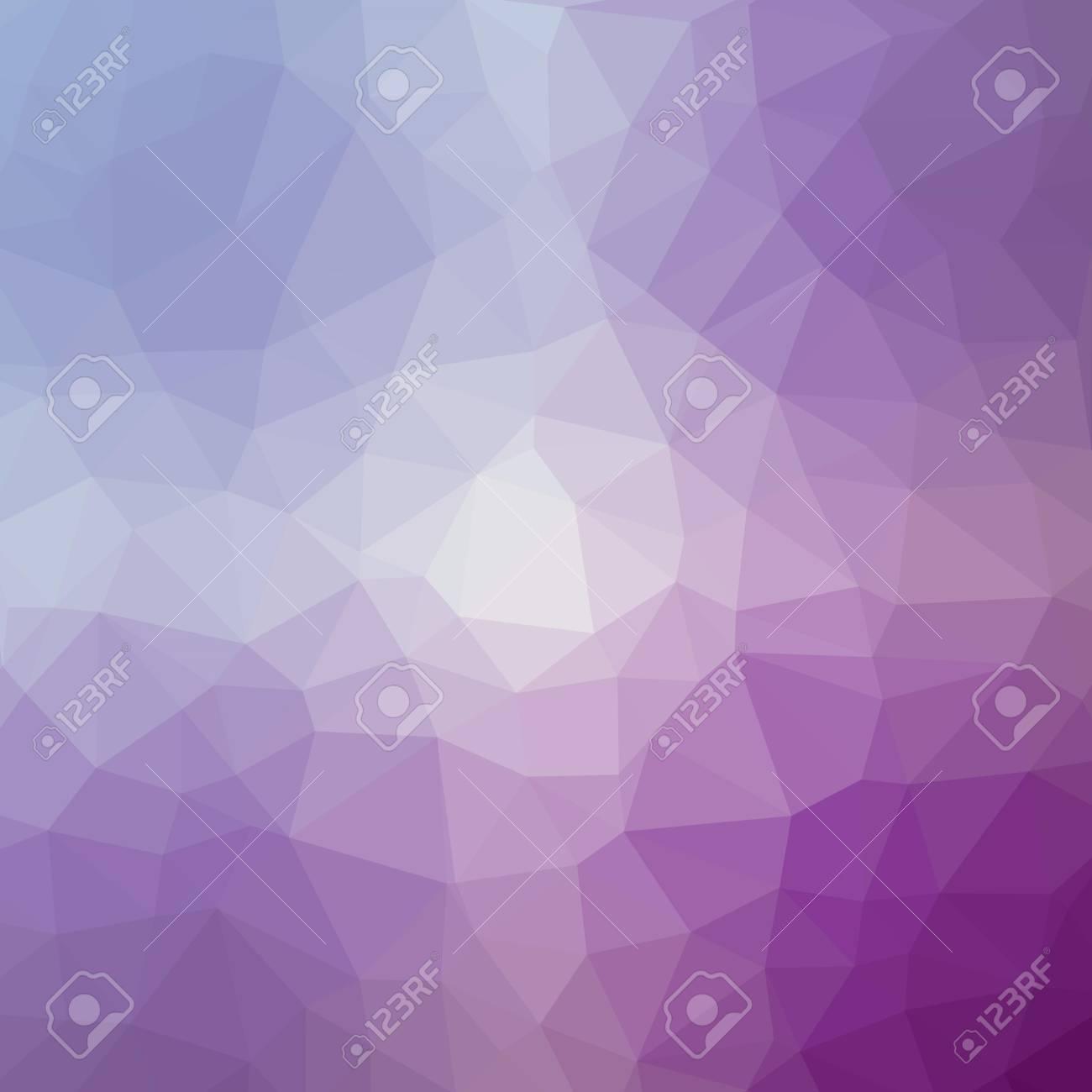 Minimalist Polygonal Background in Iris and Lavender Tones