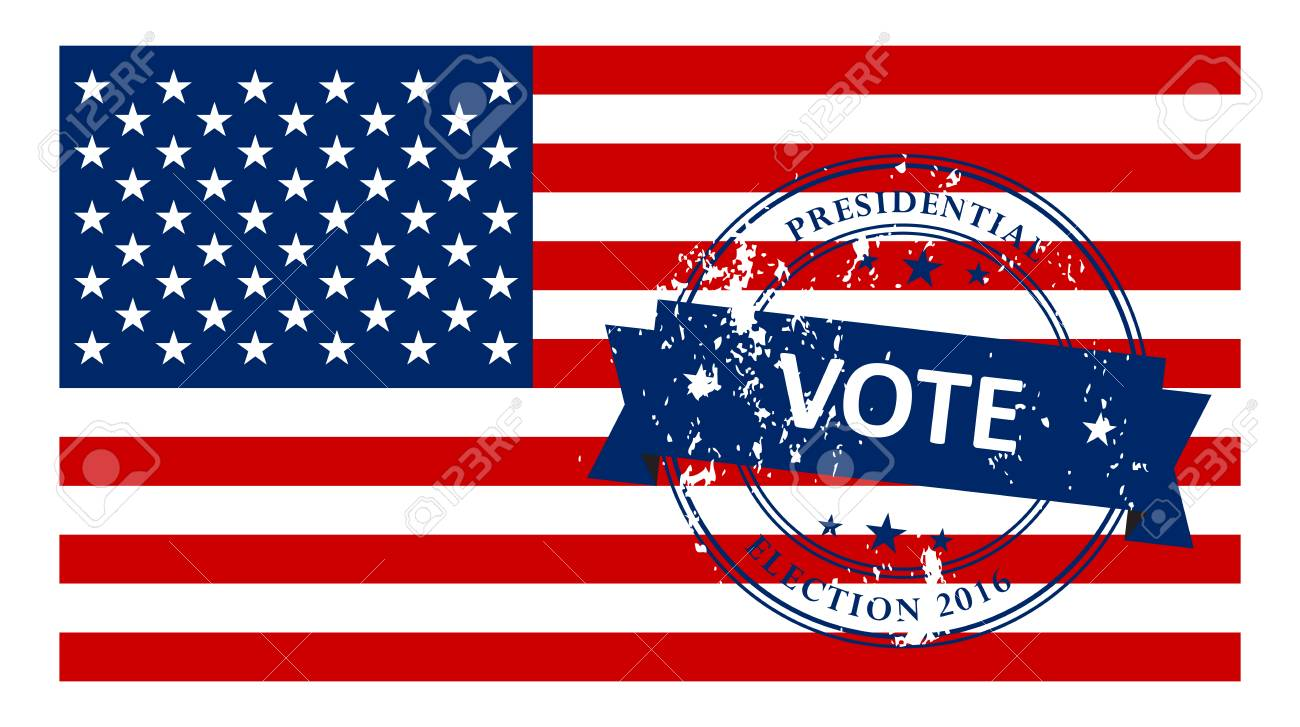 presidential election in the usa 2016 poster template stock vector 53592915