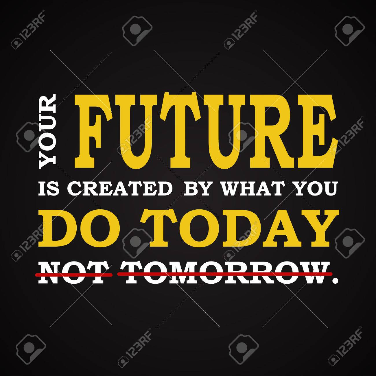 future do it today motivational template royalty free cliparts