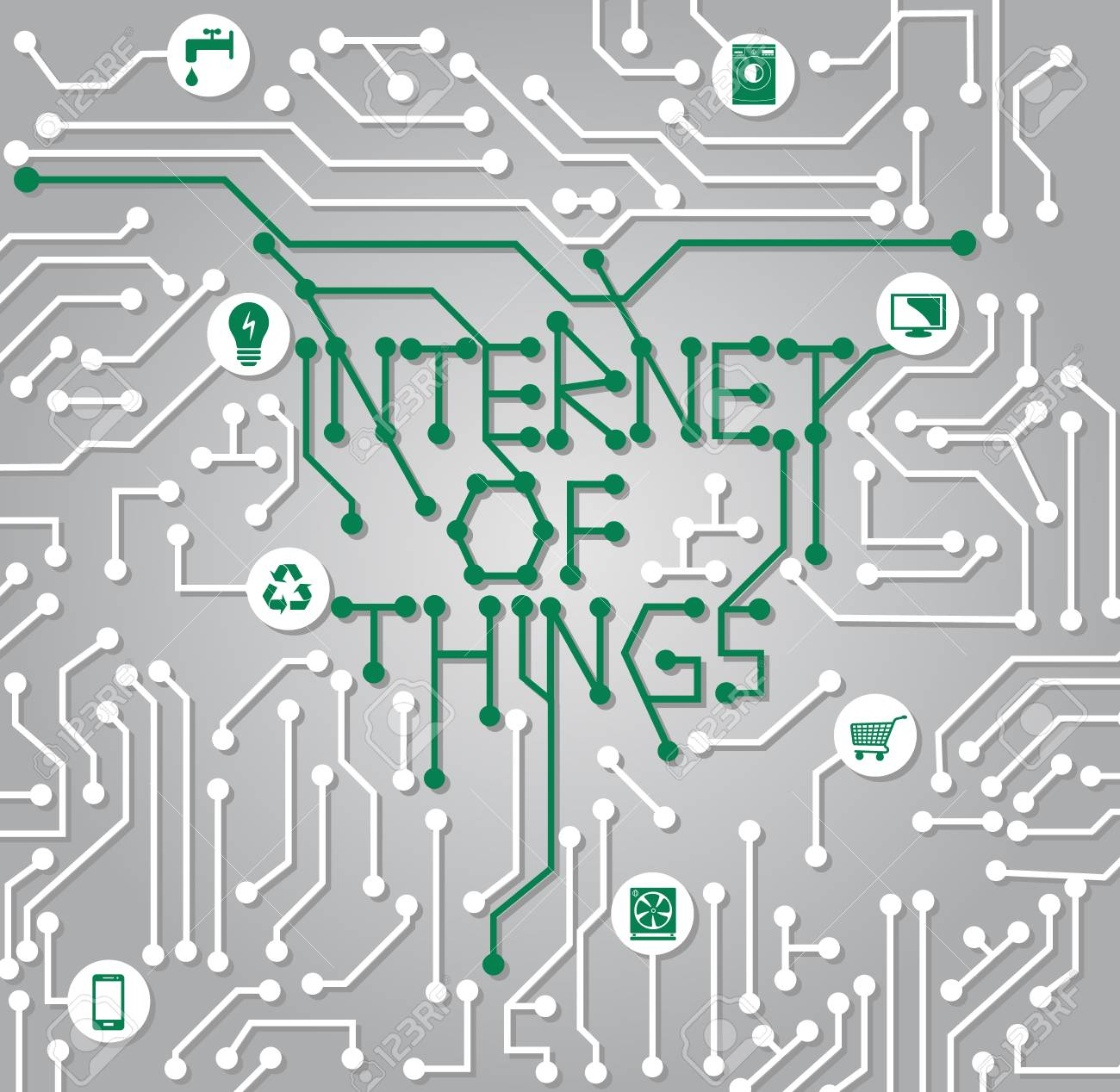 Internet Of Things - Electrical Connection Design Royalty Free ...