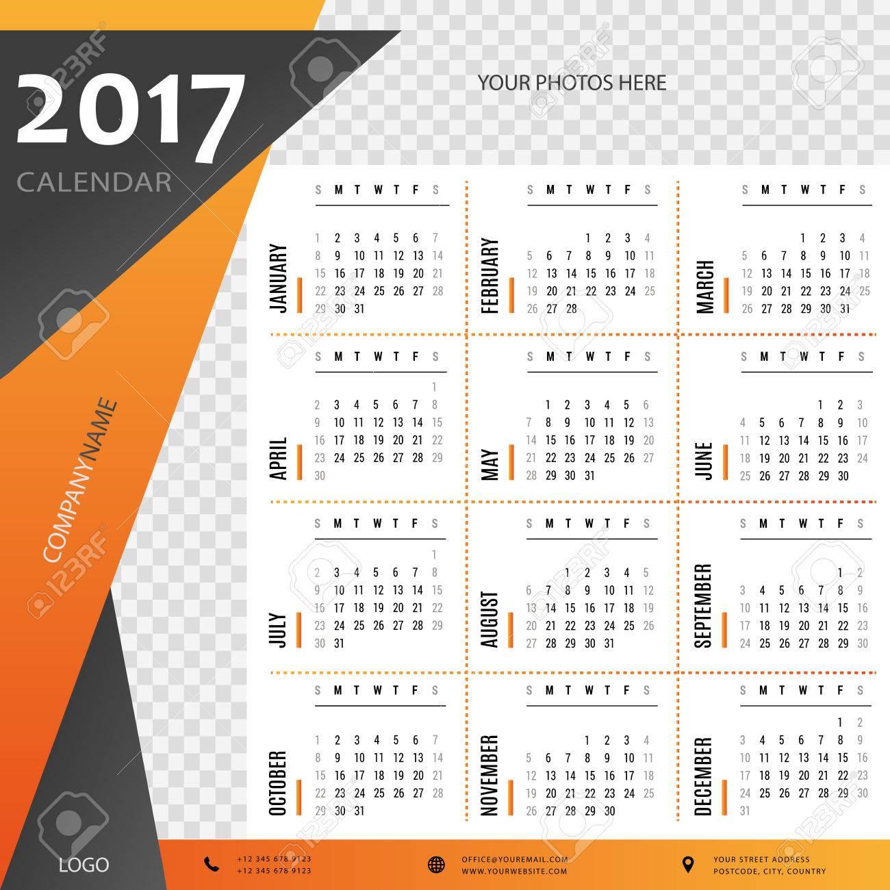 2017 Calendario, Planificador, Organizador Y Programar Las ...