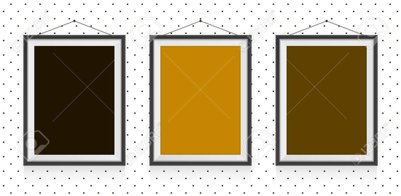 Different Type De Mur différents types de cadres photo sur le mur - modèle de fond clip