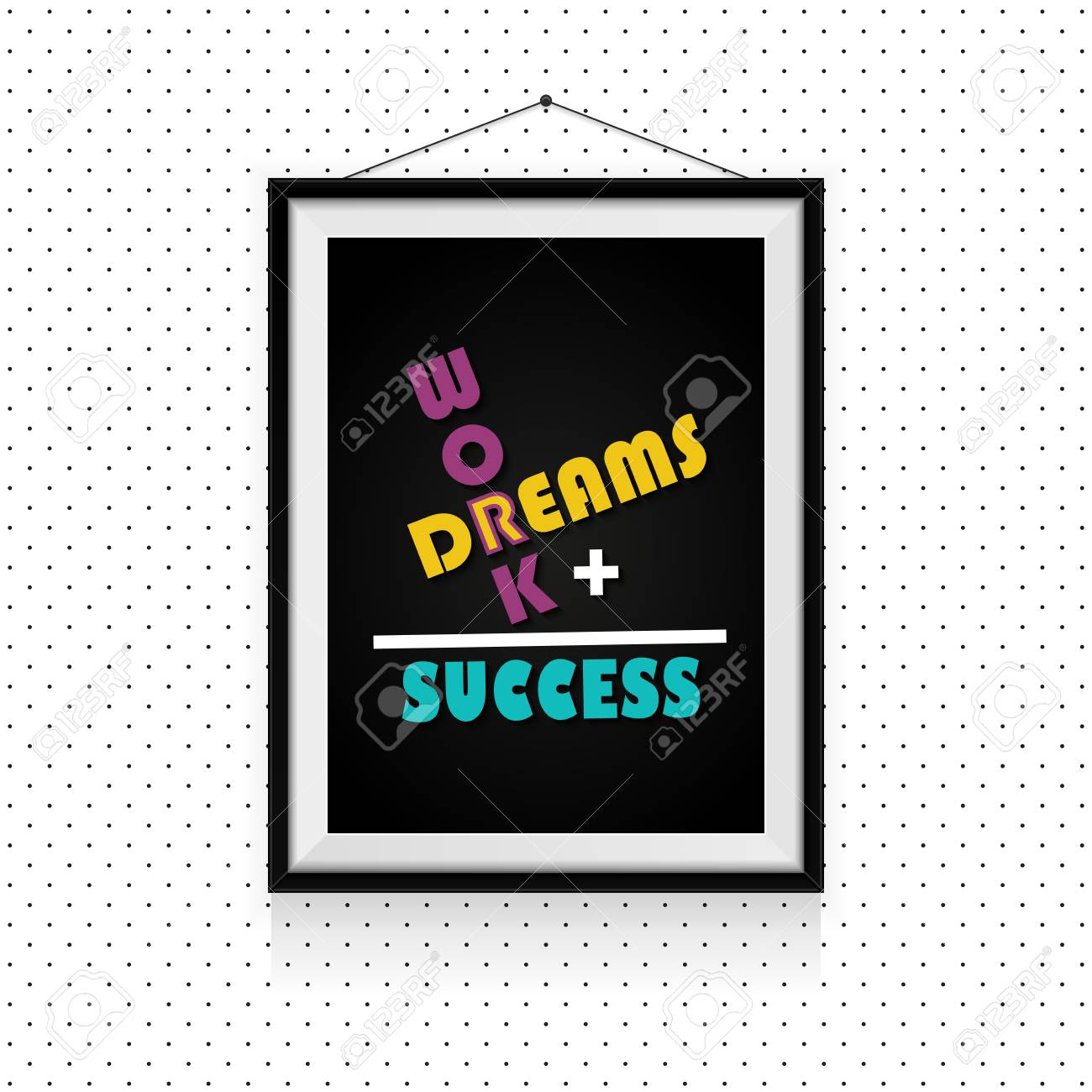 Work And Dreams Make The Success Motivational Quotes In Photo