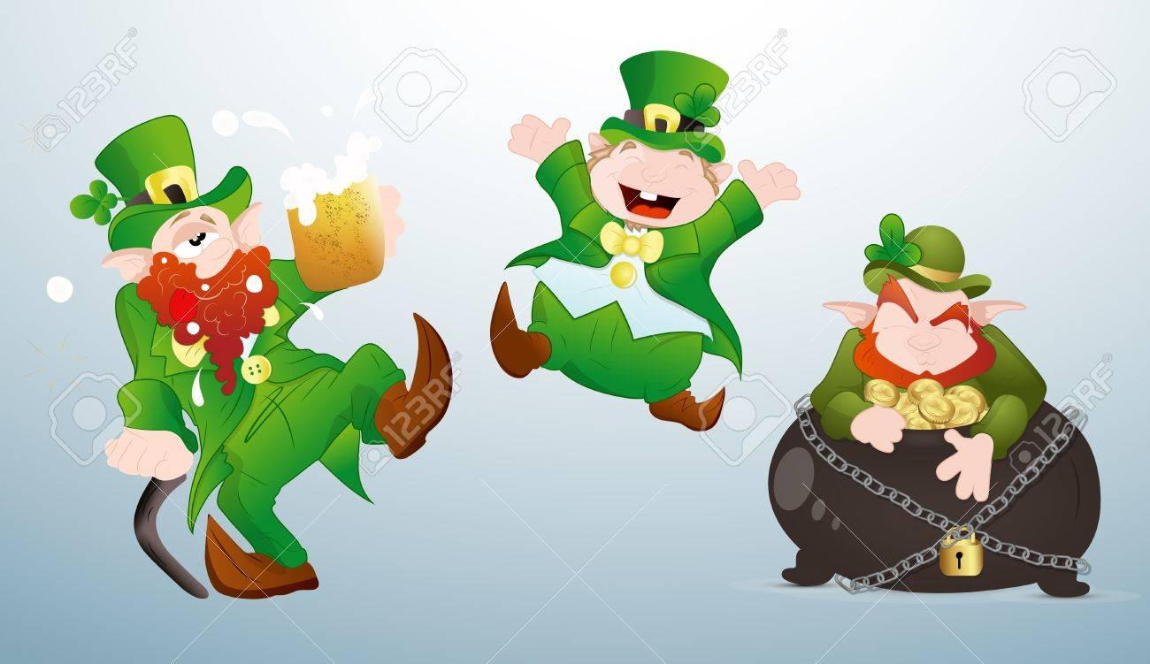 Patrick s Day Cartoons Characters Stock Vector - 12498325