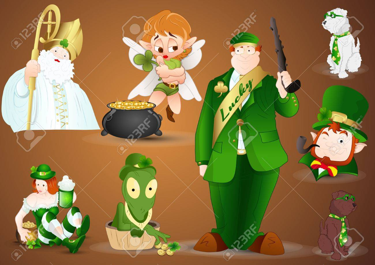 Patrick s day Characters Vectors Stock Vector - 12498333