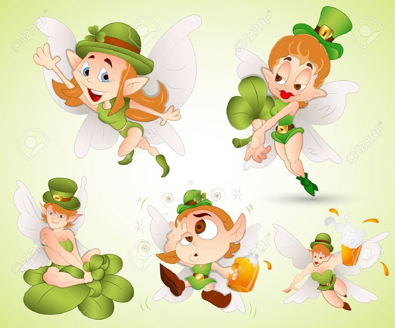 St  Patrick s Day Fairies Stock Vector - 12498293
