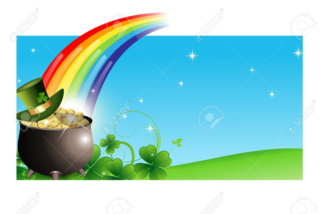 Abstract St  Patrick's Day Banner Stock Vector - 12655119