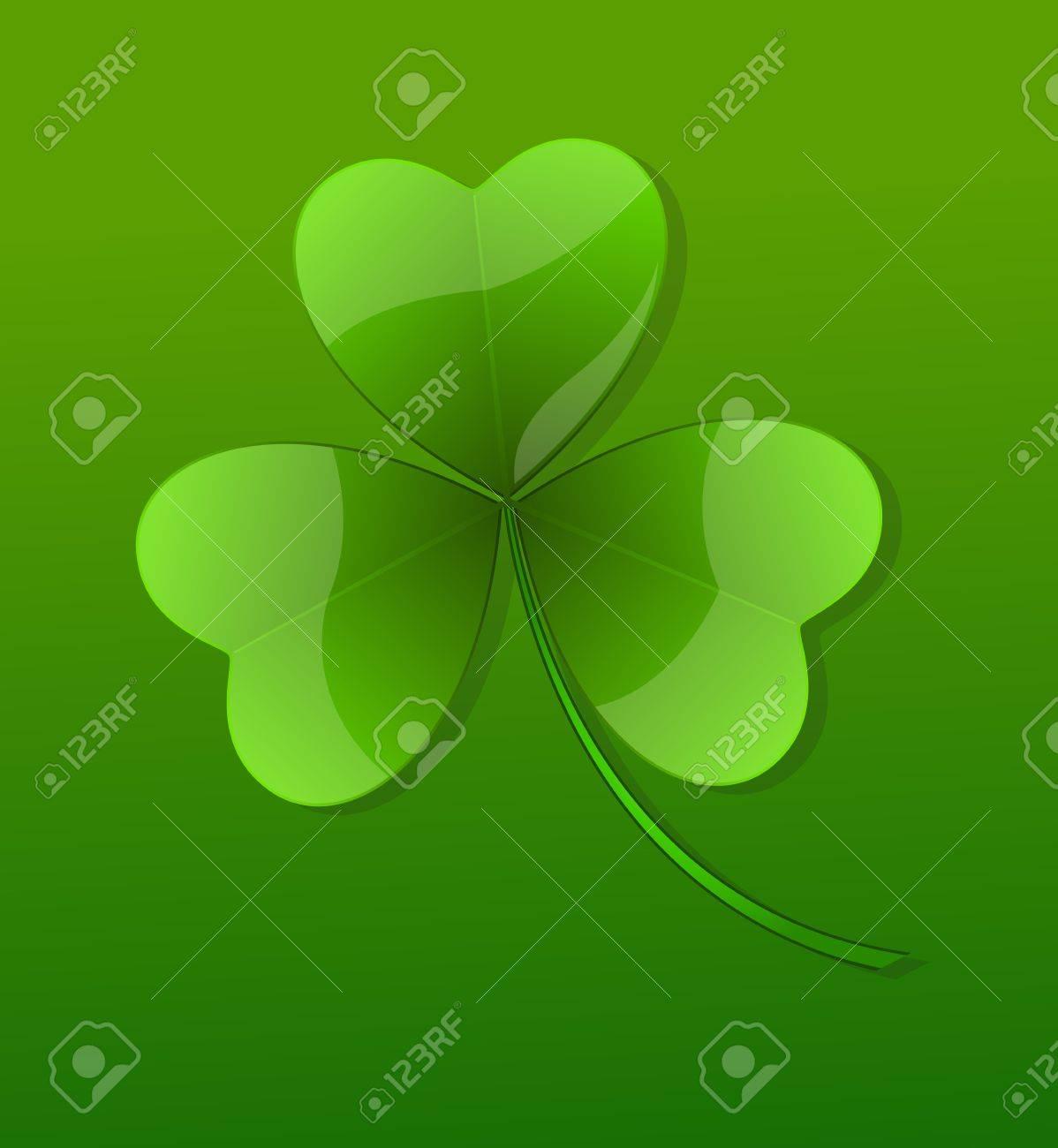 Green Glossy Shamrock Stock Vector - 12654447
