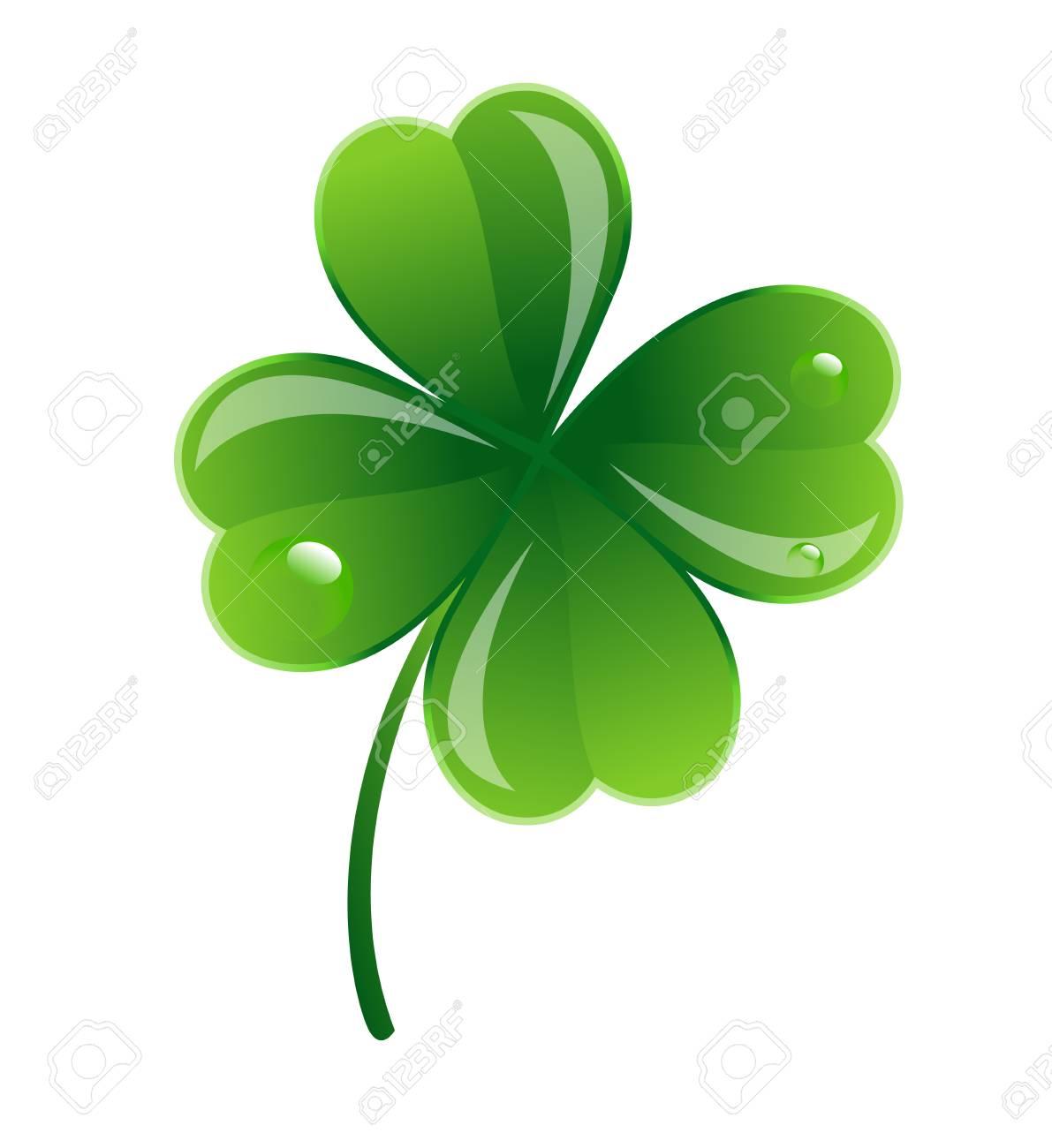 Glossy Clover Leaf Stock Vector - 12654994