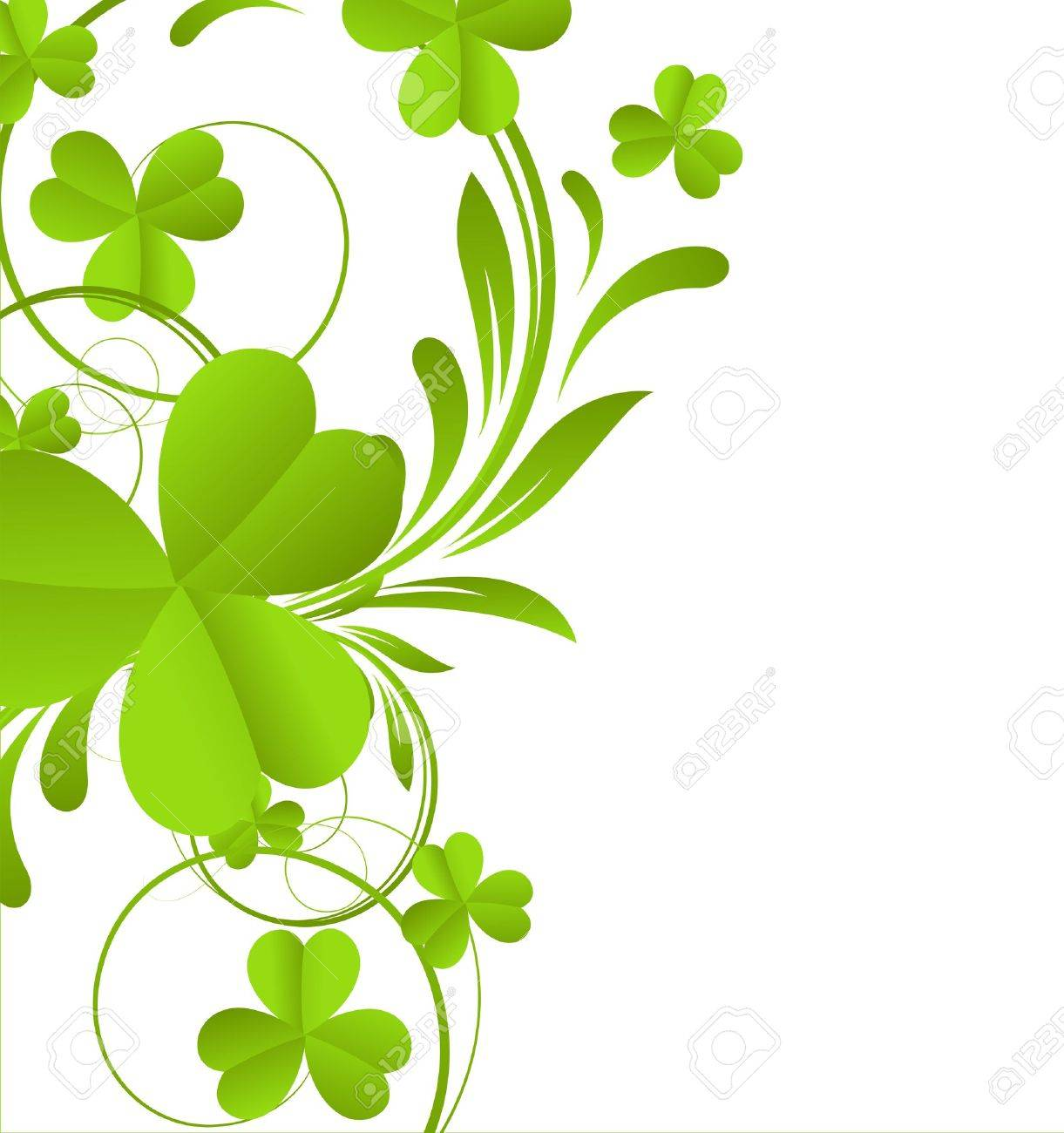 swirl shamrock element royalty free cliparts vectors and stock