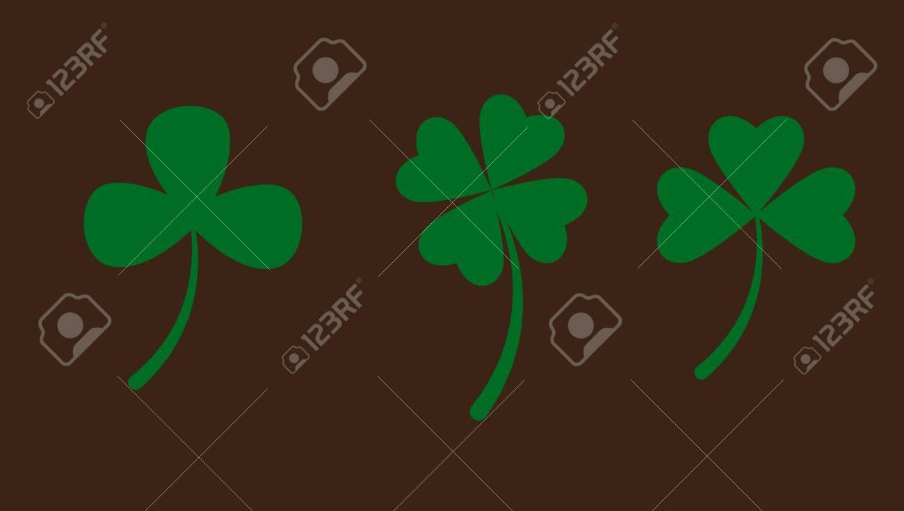 Set of Clover Leaves Stock Vector - 12655011